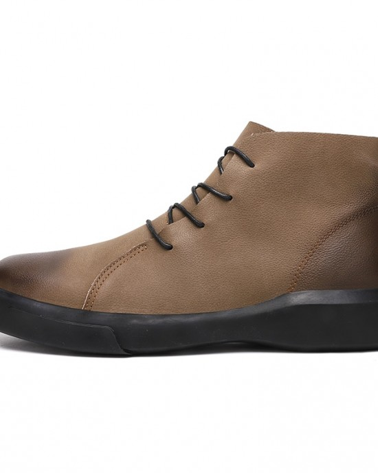 Winter Men Boots Genuine Leather Ankle
